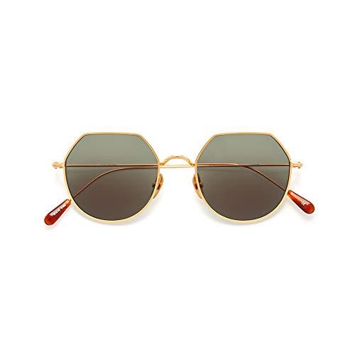 KALEOS Sunglasses CHARLES 4 Titanium Gold Green C.002 50 19 NEW