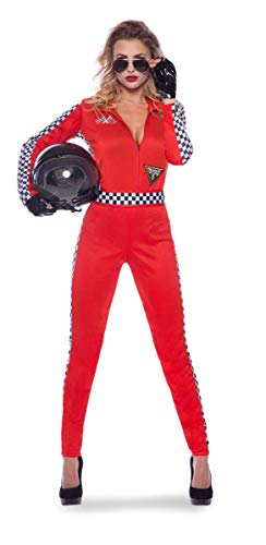 Folat 21941 Rennen, Rot Damen Rennfahrer Formel 1 Sexy Jumpsuit, S-M