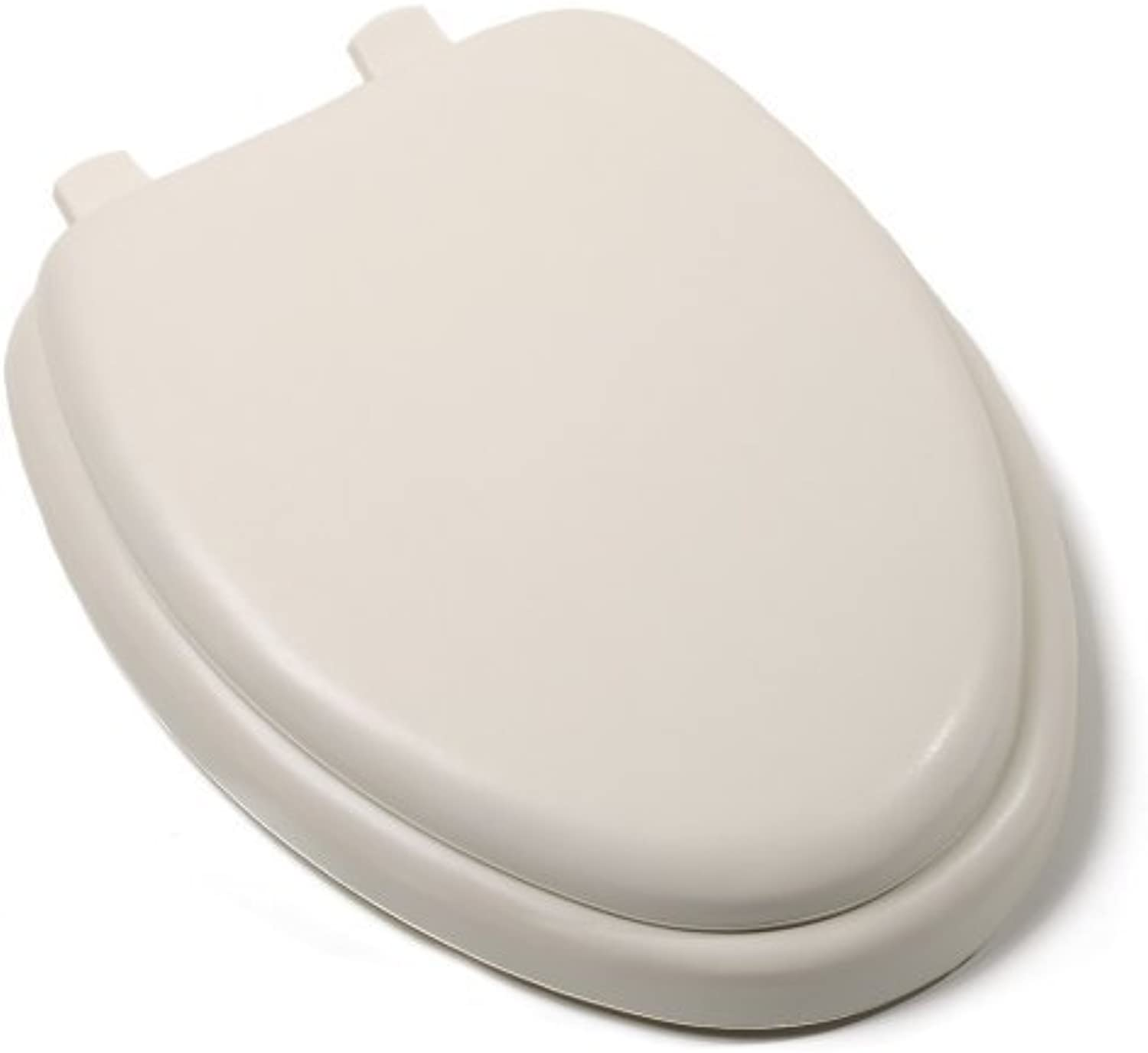 Comfort Seats C1B5E201 Deluxe Soft Toilet Seat with Wood Cores, Elongated, Bone by Comfort Seats