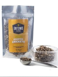 Whole Roasted Crickets - Canadian Raised - 113 grams
