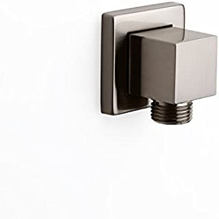 JiaYouJia Solid Brass Square Shower Wall Supply Elbow for Hand Shower in Brushed Nickel
