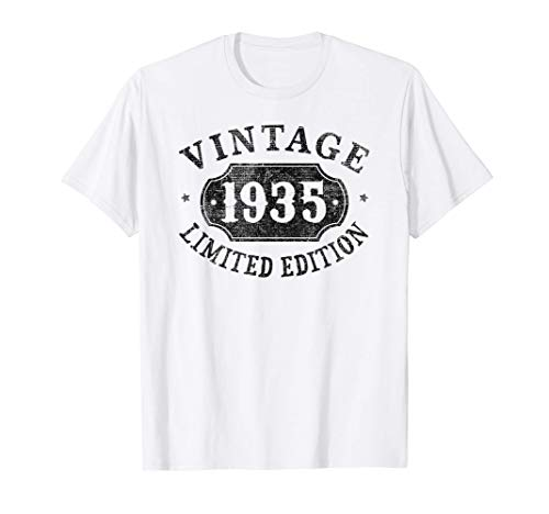 86 Years Old 86th Birthday Gift Idea Vintage 1935 Limited T-Shirt