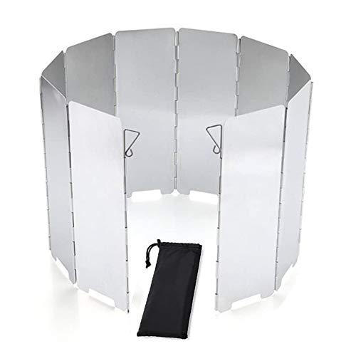 10 Placas Parabrisas Plegable, Parabrisas Aluminio aleación de Aluminio Gas Parabrisas Placas...