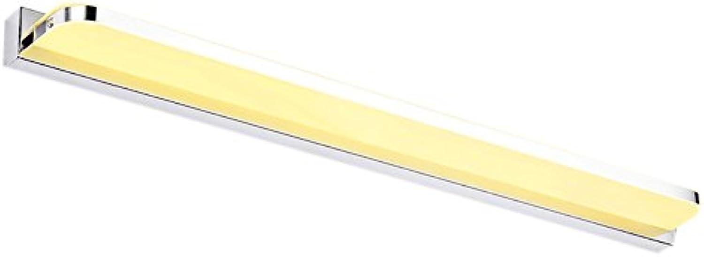 YJLGRYF LED Badezimmerspiegel Scheinwerfer Wasserdicht Und Anti-Fog-Gezeiten Edelstahl Wei (Farbe   Warmes licht, gre   72cm(28.3inch))