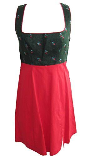 HANNAH Collection Trachtenkleid Dirndl Leinen kurz rot grün 34 36 40 42 44 46(44,18A/5428)