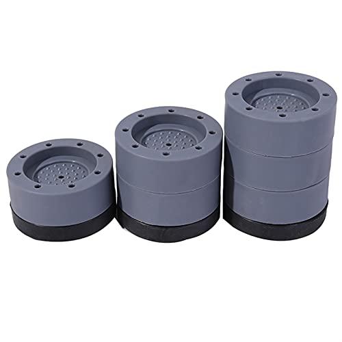 Cojín de soporte de lavadora, 4 PIEZAS Almohadillas anti-caminatas Alfombrilla de lavado Mat de la alfombrilla Almacén antideslizante Almohadillas de secado anti-ruido Protector de piso Placeres y sop