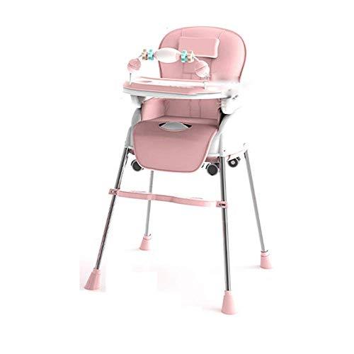 HJW Stuhl Klapphocker Sitz Fußhocker Bank, Baby Multifunktions Hochklappbarer Kleiner Tisch Tragbarer Kinder-Essbereich Verstellbarer Baby-Esstisch
