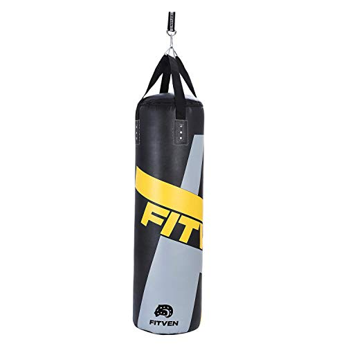 FITVEN Punching Bag for Man Women Kids, Indoor/Garden Boxing Bag, Pre-Filled Heavy Bag for MMA, Kickboxing, and Muay Thai - 50LB