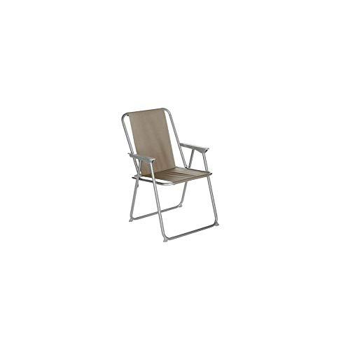 AC-Déco Chaise Pliante - Grecia - 53 x 56 x 75 cm - Taupe