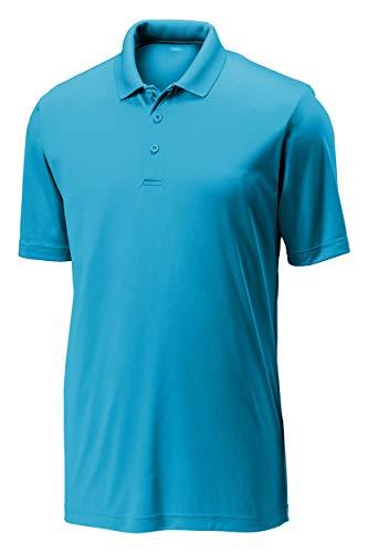 Opna Mens Dry-Fit Golf Polo Shirts Atomic Blue
