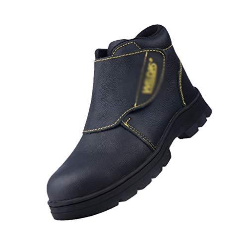 Zapatos de seguridad Cuero Negro Velcro soldadores soldadura