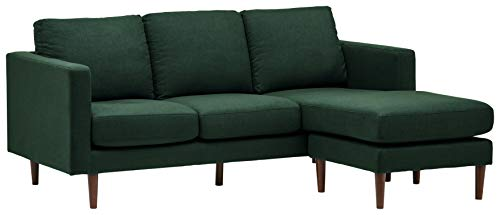 Amazon Brand – Rivet Revolve Modern Upholstered Sofa with Reversible Sectional Chaise, 80