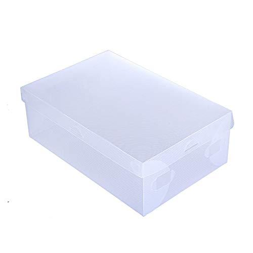 N / E Caja de zapatos transparente portátil para el hogar, caja de almacenamiento de zapatos plegable de gran tamaño, unidad de gabinete fácil de la caja de zapatos