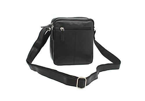 Visconti Compact Leather Messenger/Travel Bag S8 Black