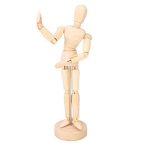 8 '' Artist Drawing Manikin Wooden Articulated Mannequin mit Base und flexiblem Körper zum Zeichnen der menschlichen Figur