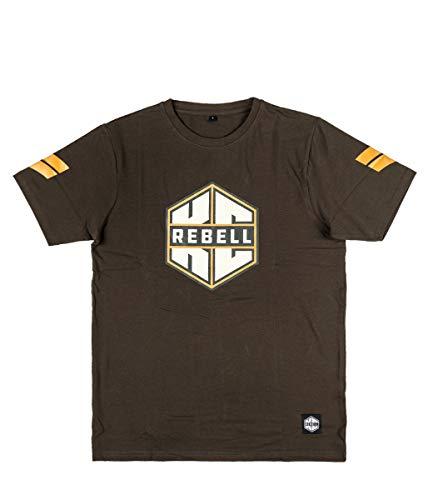 KC Rebell T-Shirt Logo dunkelgrau, Größe:M, Farbe:dunkelgrau