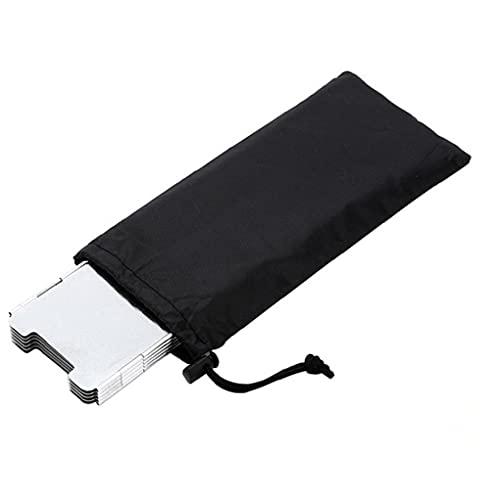 Obelunrp Barbuecue Accesorio Camping Estufa Parabrisas Plegable Aluminio Pantalla de Viento Protección para la Mochila Estufa de Gas