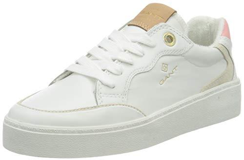 GANT Footwear Damen Lagalilly Sneaker, White/pink, 40 EU