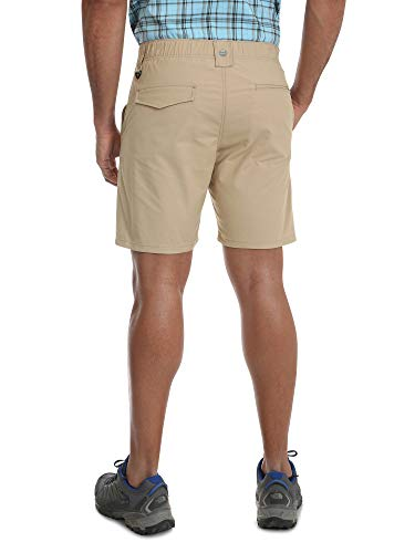 Wrangler Khaki Outdoor Performance Relaxed Fit at Knee Flex Cargo Shorts - 36