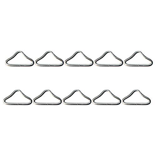 VORCOOL 30 Piezas Anillos Triangulares Plateados con Hebilla en V para Piezas de Repuesto de trampolín Outdoor Props