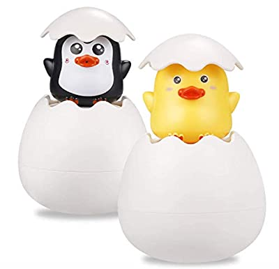 2pcs Baby Bathing Toys for Kids,Baby Bath Toy Spray Duck Egg Watering Ducklings Sprinkling Duck Egg,Easter Egg Baby Bathing Swimming Sprinkler Toy