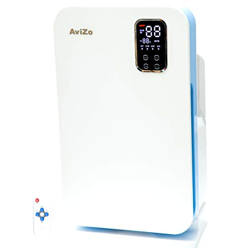 AviZo A1606 - Premium Air Purifier with Virus Protection & Benefits of Anion, Stops secondary pollution using advance Japanese Technology, 4 stage filtration