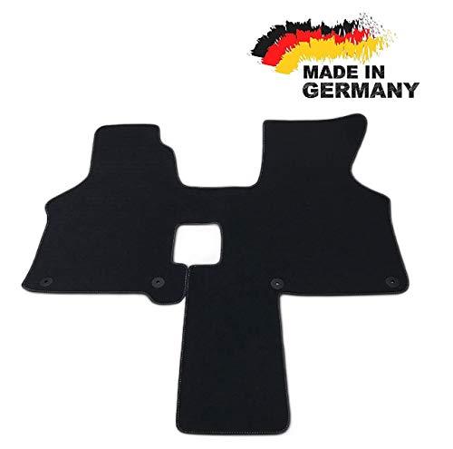 Carstyling Fußmatte passend für VW T4 2 Sitzer Schaltgetriebe Fahrerhaus Velours ANTHRAZIT Nubuk Umrandung