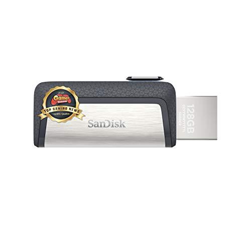SanDisk Ultra Dual USB Type-C Laufwerk Smartphone Speicher 128 GB (Mobiler Speicher, USB 3.1, versenkbarer Doppelanschluss, 150MB/s Übertragungsraten, USB Laufwerk)