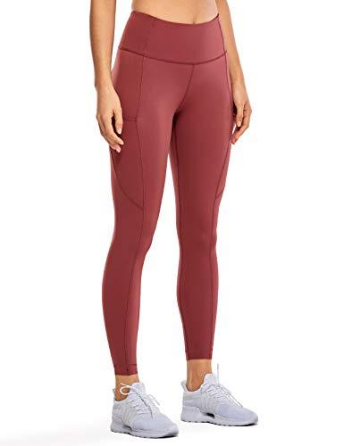CRZ YOGA Women's High Waisted Yoga Pants with Pockets Naked Feeling Workout Leggings-25 Inches Savannah 25'' Medium