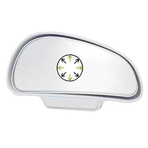 L21D TOP KFZ Auto Toter Winkel Spiegel Außenspiegel Blindspiegel Fahrschulspiegel zusatzspiegel Auto (Weiß Rechts)