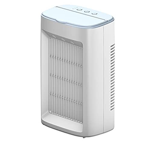 XHMJ Mini condizionatore d'Aria, Materiale ABS, Regolazione della velocità del Vento a Tre Livelli, Alimentazione USB, Adatta per dormitorio/Ufficio, ECC, 5.7x4x9,2 po White