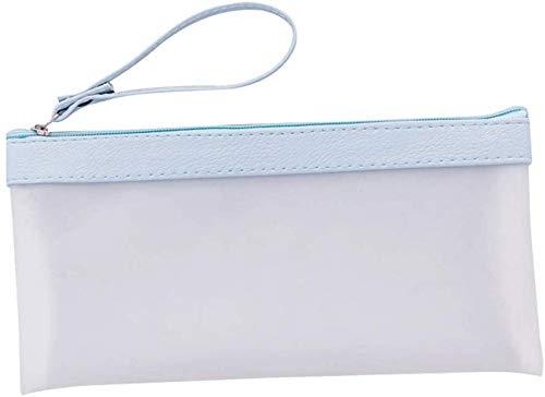 Pingjie Fresca pequeña transparente simple esmerilado del lápiz bolsa de plástico Color Matching jalea caso Estudiante Caja de lápiz de escritorio del lápiz por la Escuela Material de Oficina (10.5x21