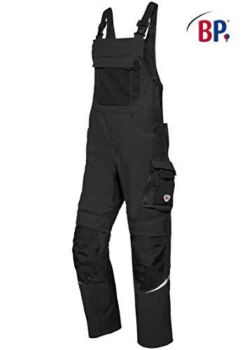 BP Arbeitsjacke für Männer, Stehkragen, verdeckter Reißverschluss und Druckknopfband, 265,00 g/m², Warngelb/nachtblau,64/66n