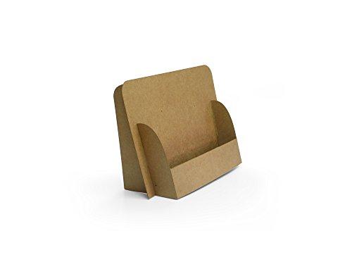 """faltbare FLYERSTÄNDER\""""nature-Design\"""" für DIN A6 quer Flyer/Postkarten aus Karton, recyclebar, platzsparend, nachhaltig, schnell aufzubauen"""
