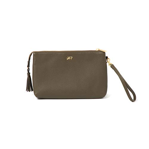Freshly Picked - Classic Zip Pouch - Diaper Bag Accessory - Vegan Leather Clutch Wallet - Olive Green