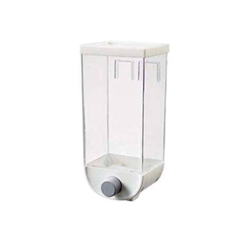 VIccoo 1000 / 1500ml Caja de Almacenamiento de Granos Tanque montado en la Pared Contenedor de arroz de Frijol Cereal Dispensador de Avena - 1500ml
