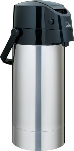 Zojirushi Stainless Steel Vacuum Air Pot Beverage Dispenser, 1-Gallon / 3.8-Liter
