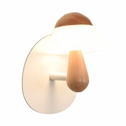 SiwuxieLamp applique murale Lampe de chevet créative simple moderne chambre salon mur personnalité nordique couloir couloir décoration en bois massif lumière support