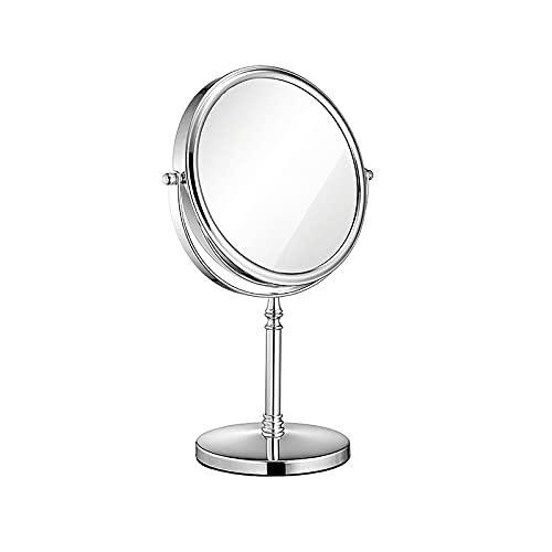 JIYANANDPHZJ Espejo Espejo de Mesa Retro con Espejo de Maquillaje de Soporte Espejo de Doble Cara, Espejo de Mano Lupa