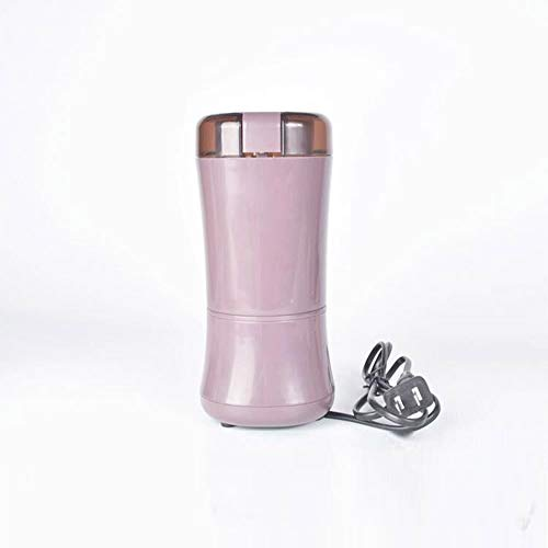 Elektrische koffiemolen, Huishoudelijke Kleine draagbare roestvrij stalen messen kunnen worden gereinigd Spices Granen Nut Pulverizer, Purple