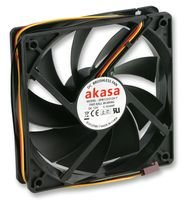 Best Price Square Fan, PC CASE, Auto Thermal, 12CM AK-174BKT-B by AKASA