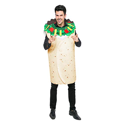 Spooktacular Creations Men Burrito Costume Adult Deluxe Set for Halloween Dress Up Party (Standrad)