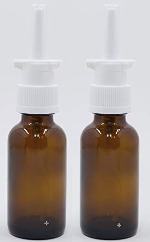 Empty 30 ml Amber Glass Sprayers for Intranasal Insulin, Colloidal Silver and Saline Solutions - dispenses.1 ml or 10 IU - Snoot! Brand -Refillable & Reusable