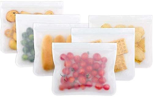 TRYSHA 6Pcs PEVA Food Storage Taschen Wiederverwendbare Lebensmittelkonservierung-Beutel for Kühlschrank Lebensmittelbeutel