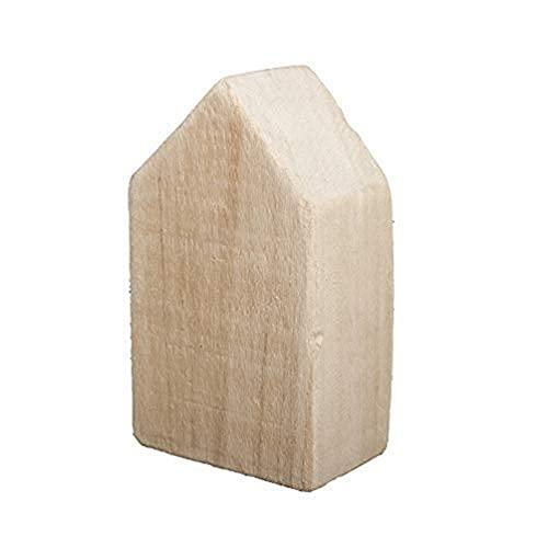 Rayher 62872505 Holzhaus, Holz, 8x5x13,5 cm, natur