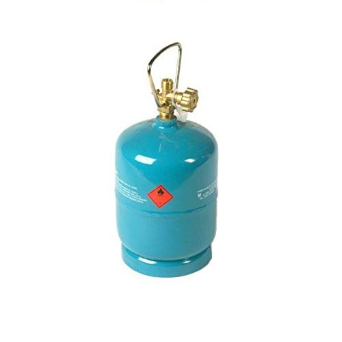 Leere befüllbare Gasflasche 1 kg / 2,4L Camping Grill Boot Propan Butan Gas