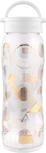 Lifefactory 53000122Oz Glas Flasche mit 24Karat Gold, verschmolzen klar moderniste