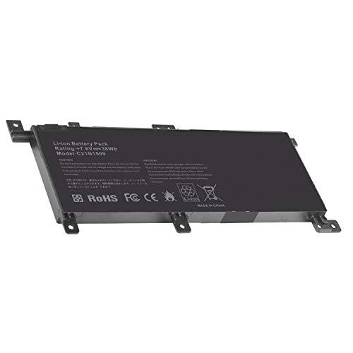 ARyee C21N1509 Batteria compatibile con Asus A556 A556U 556 F556U F556UA F556UJ F556UQ Vivobook F556 F556U F556UA F556UJ F556UQ Series C21N1509 C21N15WZ C21PQ9H(38Wh 7.6V)