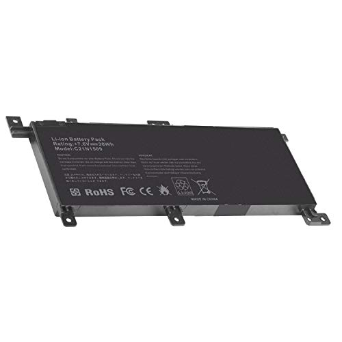 ARyee C21N1509 Batteria compatibile con Asus A556 A556U 556 F556U F556UA F556UJ F556UQ Vivobook F556 F556U F556UA F556UJ F556UQ Series C21N1509 C21N15WZ C21PQ9H(38Wh 7.6V)