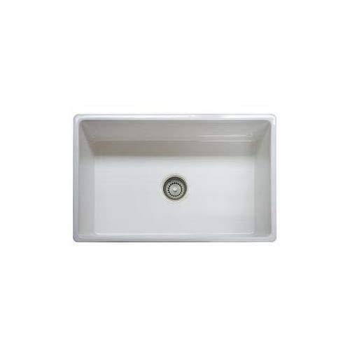"Franke FHK710-30WH Farm House Fireclay Single Bowl Apron Front Kitchen Sink, 30"", White"